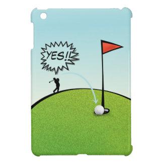 FUNNY GOLF BALL HOLE IN ONE, GOLFER GIFT iPad MINI COVER
