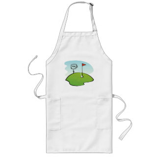 FUNNY GOLF BALL HOLE IN ONE, GOLFER GIFT LONG APRON