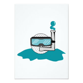 funny golf ball with snorkel card