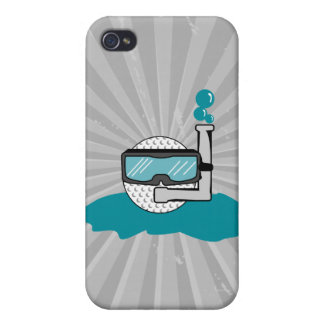 funny golf ball with snorkel cases for iPhone 4