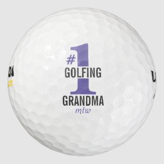 Funny Golf Balls #1 Golfing Grandma Monogrammed