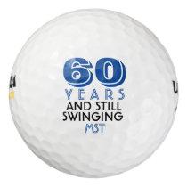 Funny Golf Balls 60th Birthday Party Monogrammed