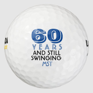 Funny Golf Balls 60th Birthday Party Monogrammed