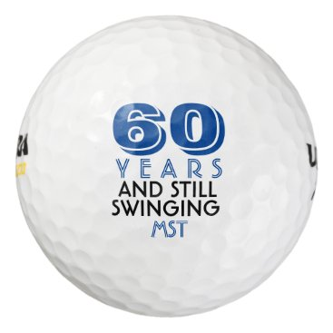Beach Themed Funny Golf Balls 60th Birthday Party Monogrammed