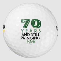 Funny Golf Balls 70th Birthday Party Monogrammed