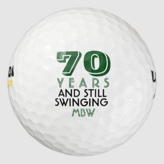 Funny Golf Balls 70th Birthday Party Monogrammed