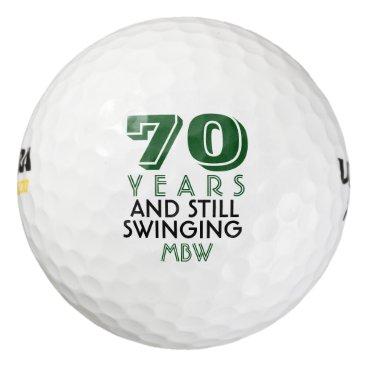 colorfulgalshop Funny Golf Balls 70th Birthday Party Monogrammed