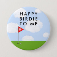 funny golf birthday button