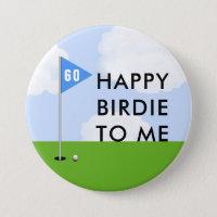 funny golf birthday button