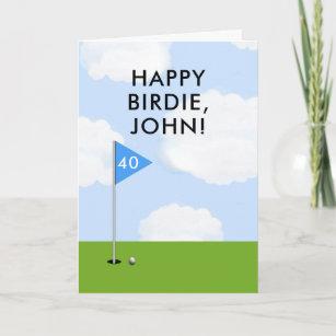 Funny Golf Birthday Card