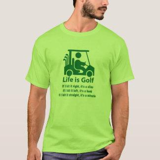 Funny Golf Cart Golfer Green light green T-Shirt