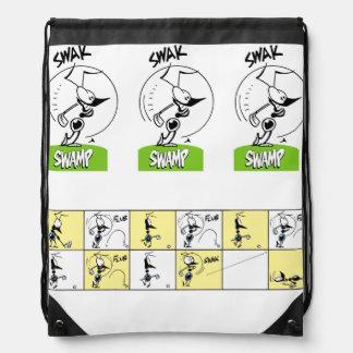 Funny Golf Cartoons Drawstring Backpack