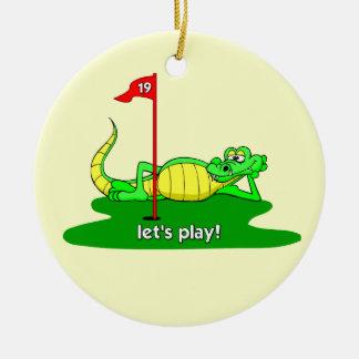 funny golf ceramic ornament