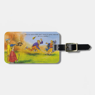 Funny golf chase bag tag