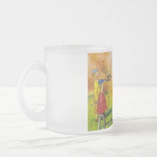 Funny golf chase frosted glass coffee mug
