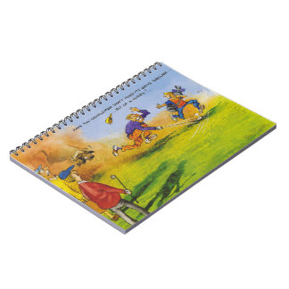 Funny golf chase notebook