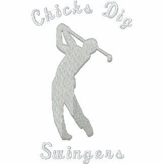 Funny Golf Chicks Dig Swingers Embroidered Embroidered Polo Shirt