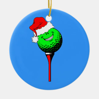 funny golf Christmas Ceramic Ornament