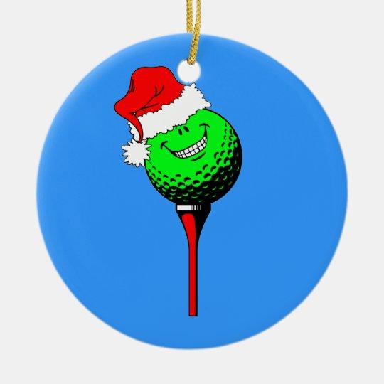 funny golf Christmas Ceramic Ornament