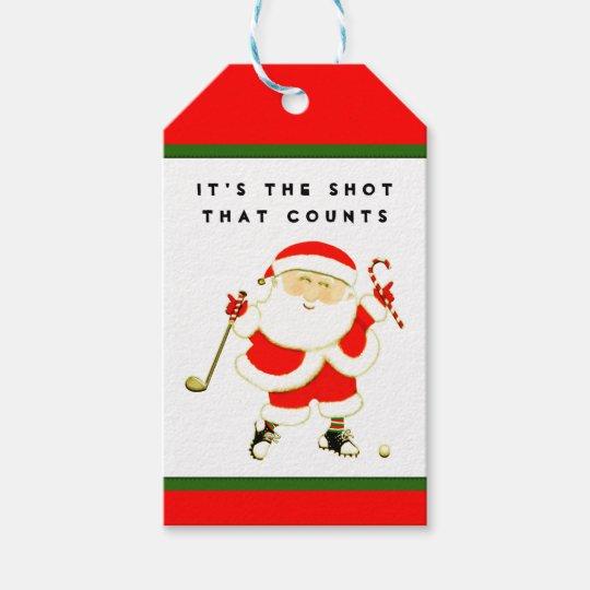 Christmas Name Tags.Funny Golf Christmas Gift Tags