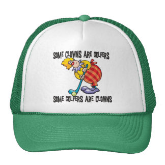Funny Golf Clown Golfing Hats