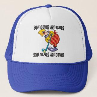 Funny Golf Clown Golfing Trucker Hat