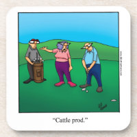 Funny Golf Coaster Gift