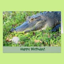 Funny Golf Custom Birthday Greeting Card