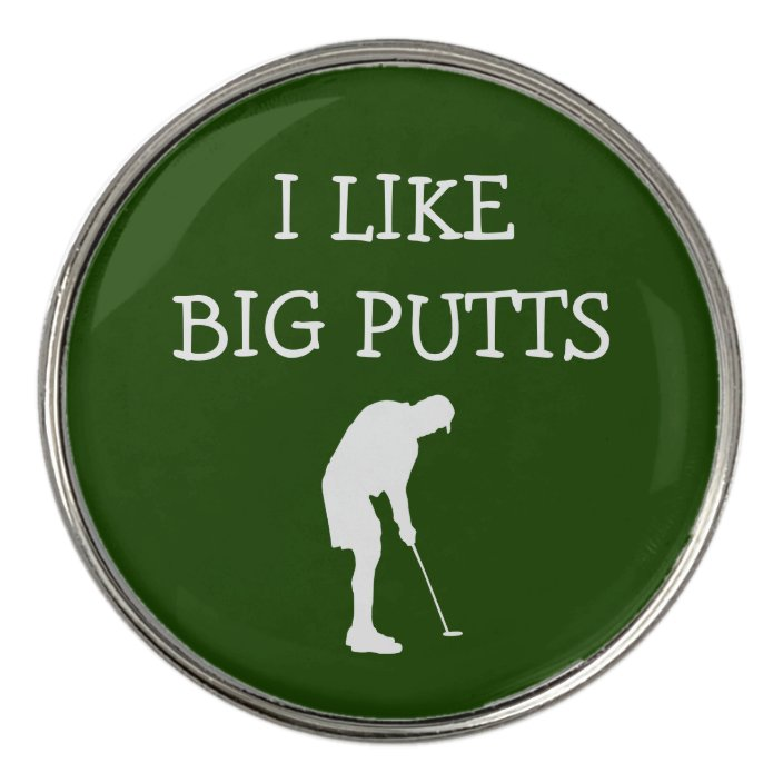 Funny Golf Fanatic Theme Golf Ball Marker Zazzle Com