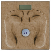 Funny Golf Footprints in The Sand Bathroom Scale