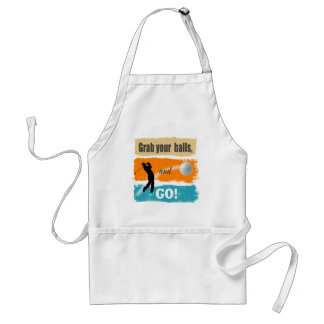 Funny Golf Grab Your Balls ID466 Adult Apron