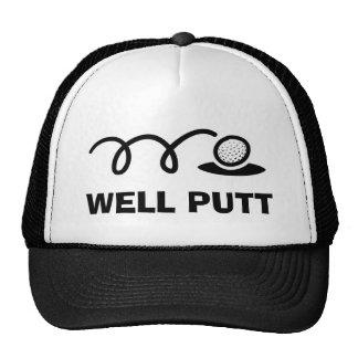 Funny golf hat | well putt