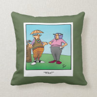 Funny Golf Humor Pillow Gift
