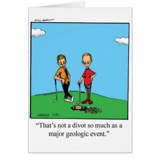 Funny Golf Humor Blank Greeting Card