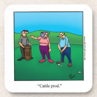 Funny Golf Humor Coaster Set Golf Gift