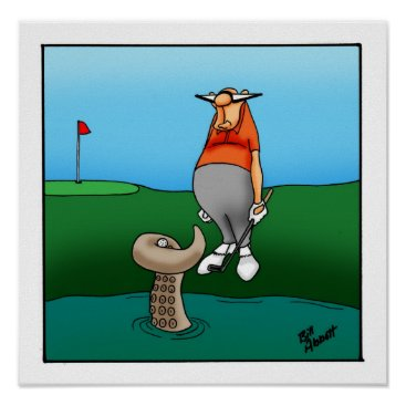 Art Themed Funny Golf Humor Poster Gift