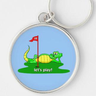 funny golf keychain