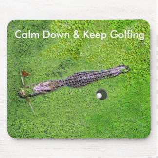 FUNNY GOLF MOUSEPAD, KEEP CALM & KEEP GOLFING MOUSE PAD