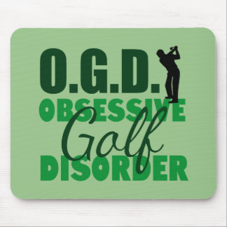 Funny Golf Obsessed Green Mouse Pad