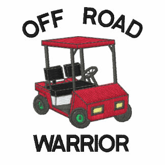 Funny Golf Off Road Warrior Embroidered Polo Shirt