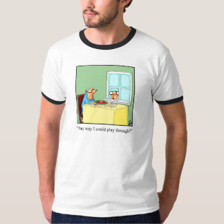 "Funny Golf ""Play Through"" Humor Tee Shirt"