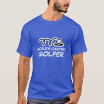 Funny golf player t shirt   World's Okayest Golfer
