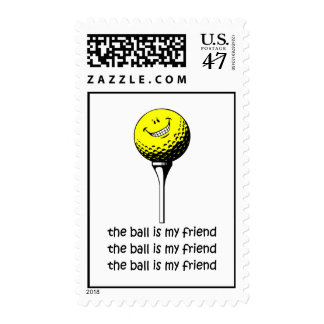 Funny golf postage