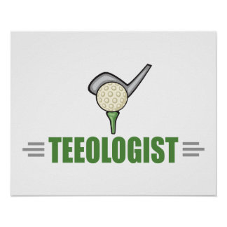 Funny Golf Poster