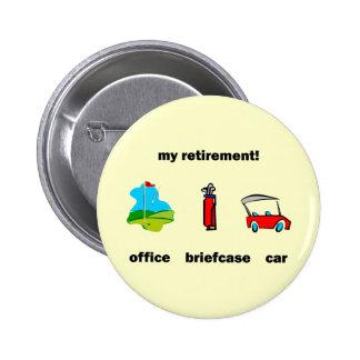 Funny golf retirement pins