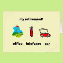 Funny golf retirement card