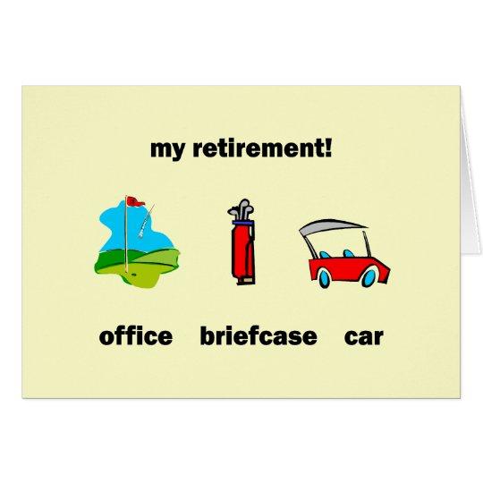 Funny golf retirement card