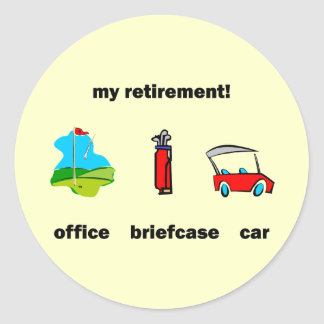 Funny golf retirement classic round sticker