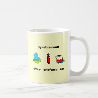 Funny golf retirement classic white coffee mug