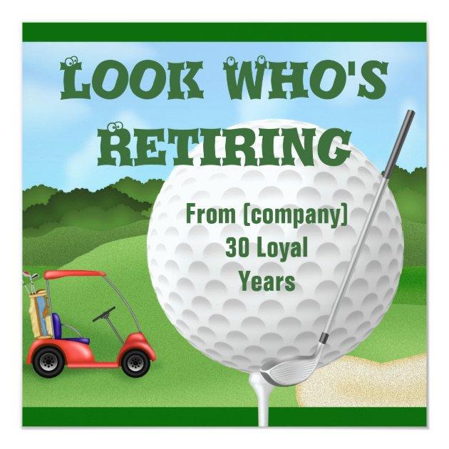 funny golf retirement invitations template